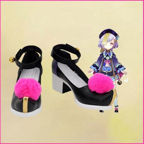 Genshin Impact Qiqi Cosplay Shoes Boots Halloween Costumes Accessory Custom Made
