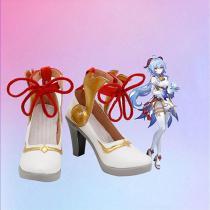Genshin Impact GanYu Cosplay Shoes Boots Halloween Costumes Accessory Custom Made