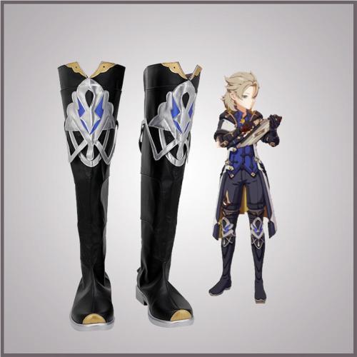 Genshin Impact Albedo Cosplay Shoes Boots Halloween Costumes Accessory Custom Made