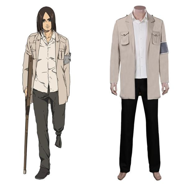 Attack on Titan Cloak Shingeki no Kyojin Eren Jaeger Cosplay Costume Outfits Halloween Carnival Suit