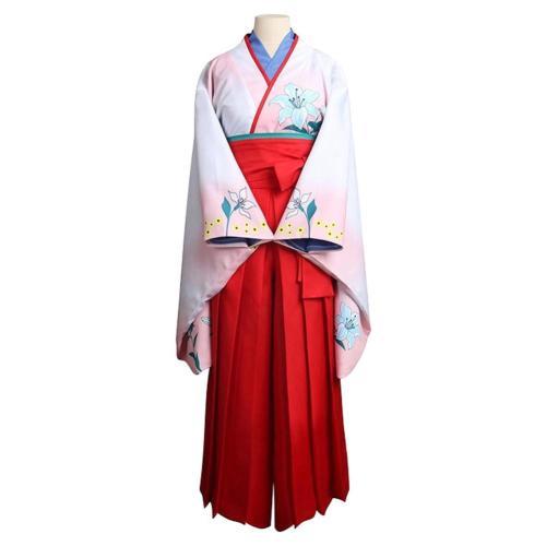 Kakegurui Compulsive Gambler Nishinotoin Yuriko Kimono Outfits Cosplay Costume Outfits Halloween Carnival Suit
