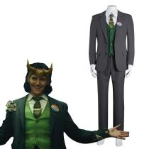 Loki Cosplay Costume Outfits Halloween Carnival Suit
