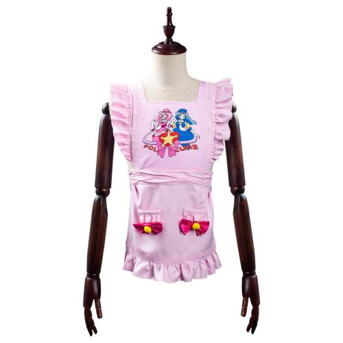 The Way Of Household Husband Tatsu Cosplay Costume Pink Apron Halloween Carnival Suit