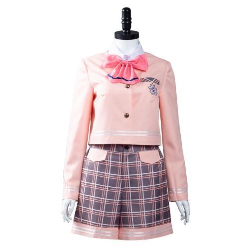 Aikatsu Planet! Cosplay Costumes Seirei High School Uniform Shirt Shorts Outfits Halloween Carnival Suit