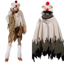 Final Fantasy VII: Remake Intergrade Yuffie Kisaragi Moogle Cape Cosplay Costume Halloween Carnival Suit