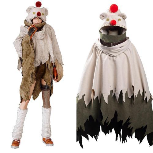 Final Fantasy VII: Remake Intergrade Yuffie Kisaragi Moogle Cape Cosplay Costume Halloween Carnival Suit