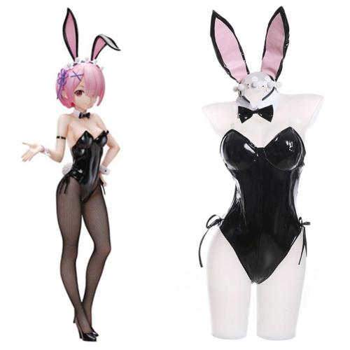 Re:Life In A Different World From Zero Rem Ram Cosplay Costume Bunny Girl Halloween Carnival Suit