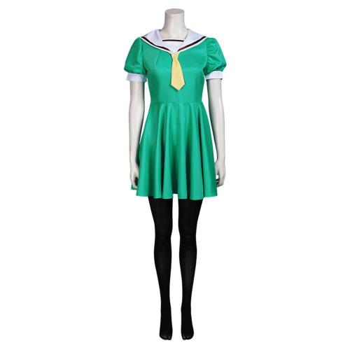 Higurashi When They Cry Hojo Satoko Cosplay Costume Outfits Halloween Carnival Suit