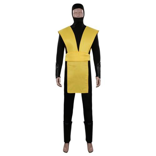 Mortal Kombat Scorpion Cosplay Costume Outfits Halloween Carnival Suit