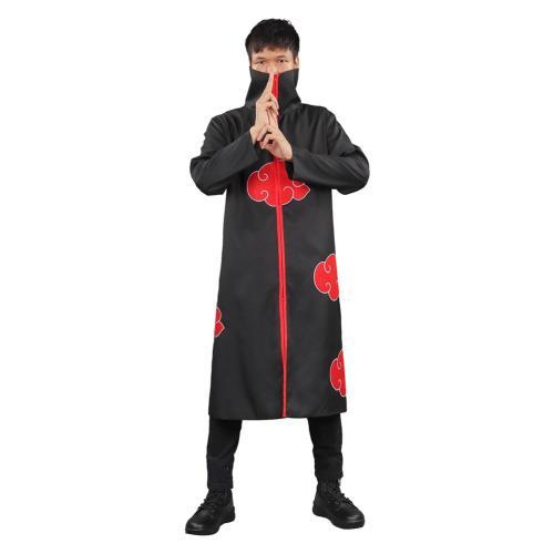 Naruto Akatsuki Cloak Cosplay Costume Outfits Halloween Carnival Suit