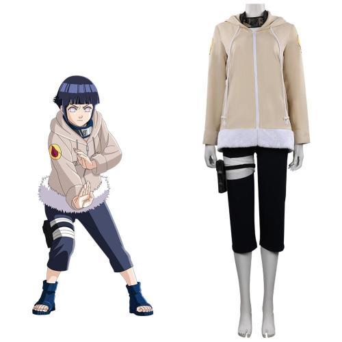 Kids Naruto Hinata Hyuuga Cosplay Costume Outfits Halloween Carnival Suit