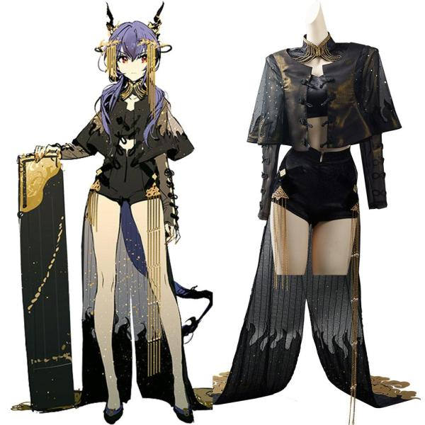 Arknights Ambience Synesthesia Ch'en Cosplay Costume Outfits Halloween Carnival Suit