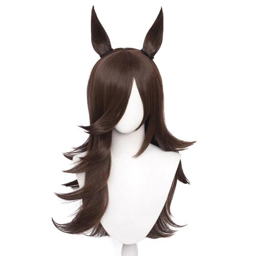 Pretty Derby Rice Shower Cosplay Wig Heat Resistant Synthetic Hair Carnival Halloween Party Props