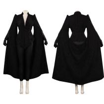 Cruella Cosplay Costume Black Coat Outfits Halloween Carnival Suit