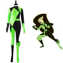 Kim Possible Shego Cosplay Costume Adult Jumpsuit Outfits Halloween Carnival Suit