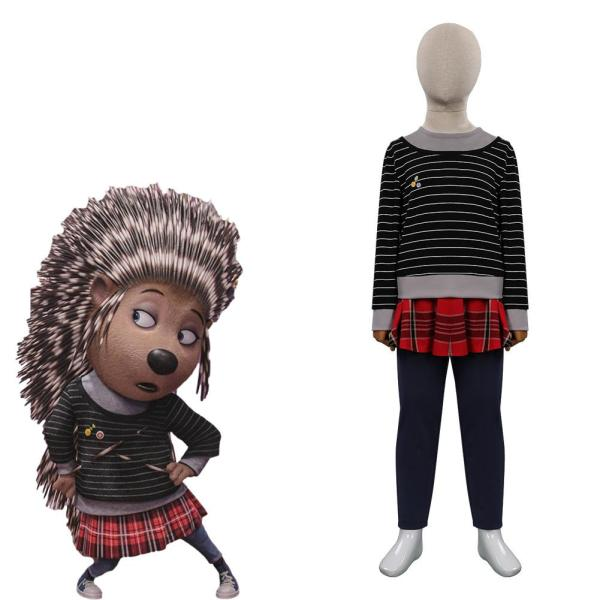 Sing 2 Ash Cosplay Costume Kids Children Outfits Halloween Carnival Suit