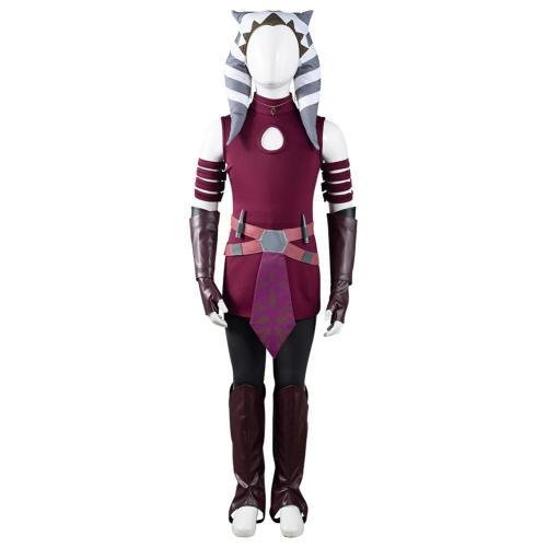 Star Wars: The Clone Wars  Ahsoka Tano Cosplay Costume Outfits Kids Children Halloween Carnival Suit
