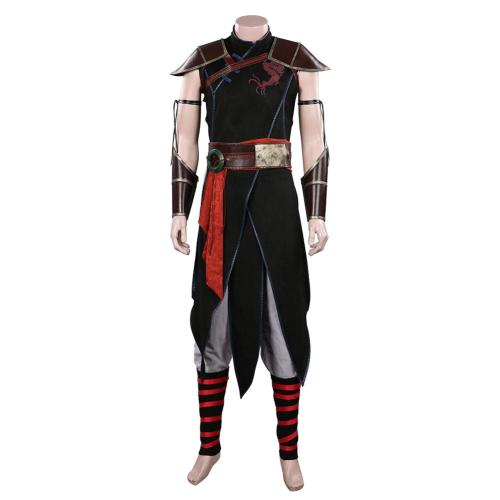 Movie Mortal Kombat 2021 Kung Lao Cosplay Costume Outfits Halloween Carnival Suit