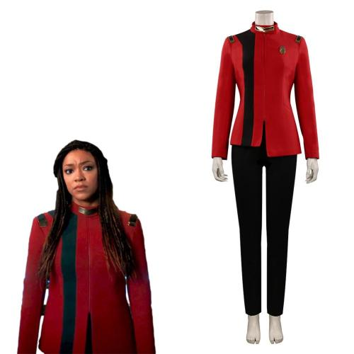 Star Trek: Discovery Season 4  Michael Burnham Cosplay Costume Red  Uniform Outfits Halloween Carnival Suit
