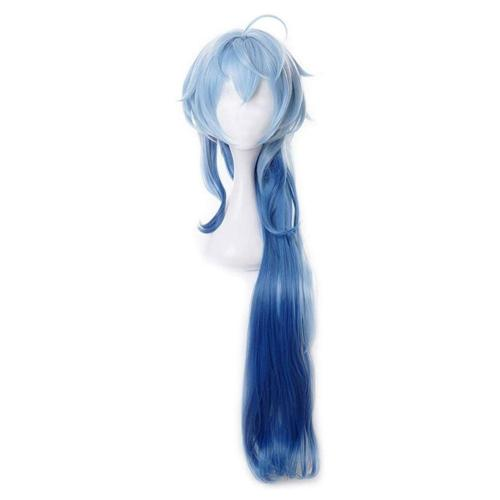 Genshin Impact Ganyu Cosplay Wig Heat Resistant Synthetic Hair Carnival Halloween Party Props