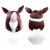 Pretty Derby Special Week Cosplay Wig Heat Resistant Synthetic Hair Carnival Halloween Party Props