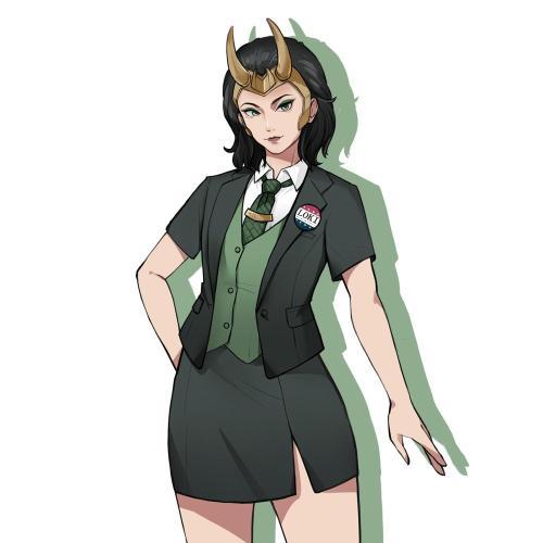 Pre-sale 2021 TV Loki Loki Female Version Outfits Halloween Carnival Suit Cosplay Costume