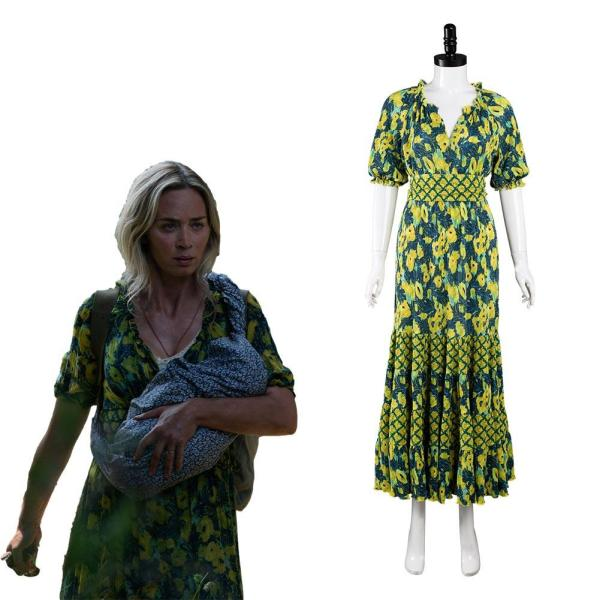 A Quiet Place 2 Evelyn Abbott Cosplay Costume Outfits Halloween Carnival Suit