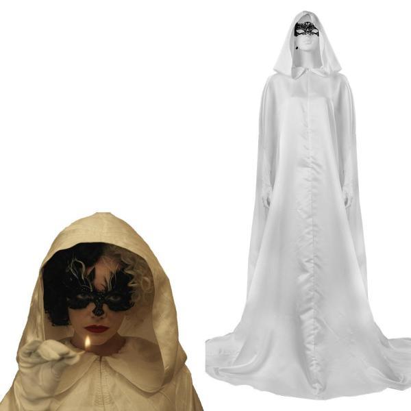 Cruella Cloak Cosplay Costume Halloween Carnival Party Suit