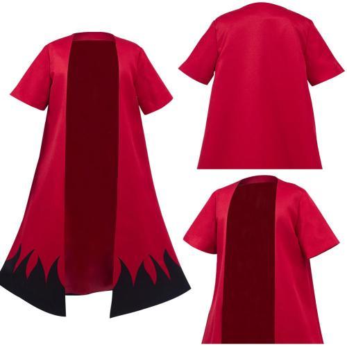 Kids Naruto Uzumaki Cloak Kimono Cardigan Cosplay Costume Robe Cospaly  Halloween Carnival Suit
