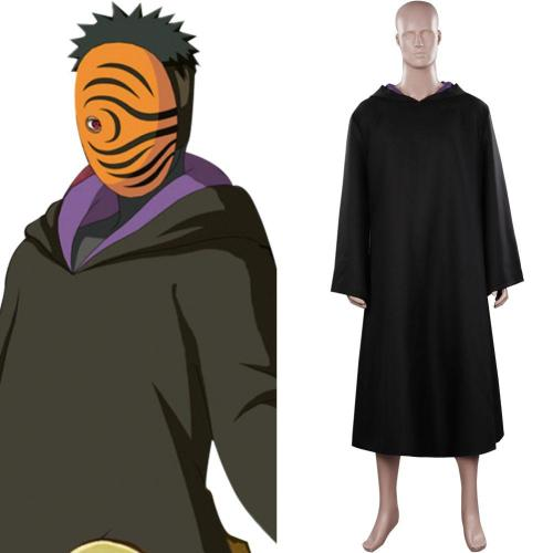 Naruto Tobi Cosplay Costume Cloak Outfits Halloween Carnival Suit
