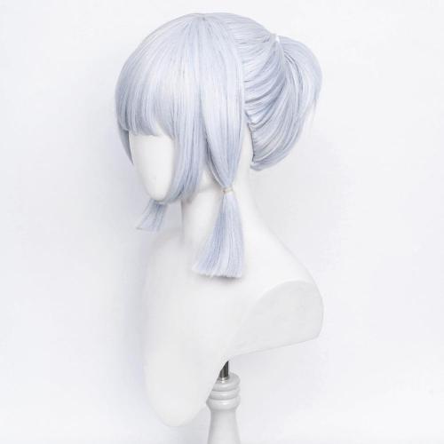 Genshin Impact Kamisato Ayaka Cosplay Wig Heat Resistant Synthetic Hair Carnival Halloween Party Props
