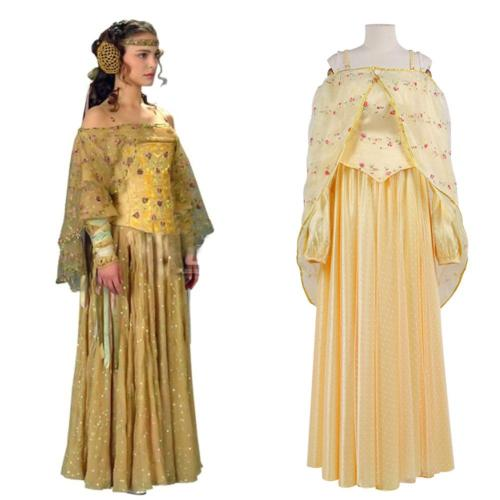 Star Wars Queen Amidala Cosplay Costume Halloween Carnival Suit