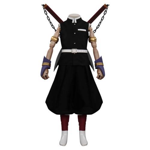 Kids Children Demon Slayer Season 2 Uzui Tengen Cosplay Costume Outfits Halloween Carnival Suit