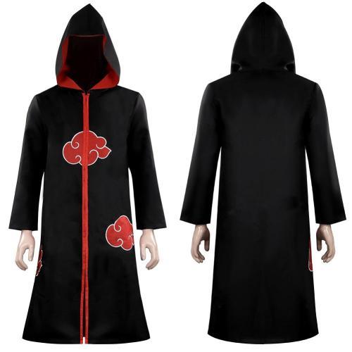 Naruto Akatsuki Kimono Cardigan Cosplay Costume Headband Kunai Knife Throwing Darts Set Halloween Carnival Suit
