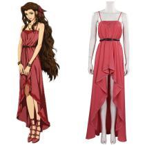 Final Fantasy VII FF7 Remake Aeris Aerith Gainsborough Cosplay Costume Dress Halloween Carnival Suit