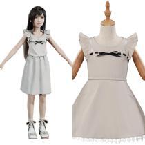 Kids Final Fantasy VII FF7 Remake Tifa Lockhart Cosplay Costume Dress Halloween Carnival Suit