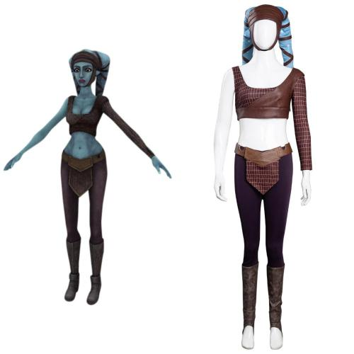 Star Wars -Aayla Secura Cosplay Costume Halloween Carnival Suit