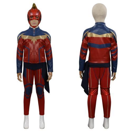 Ms. Marvel-Kamala Khan Kids Cosplay Costume Outfits Halloween Carnival Suit