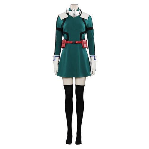 My Hero Academia Midoriya Izuku Women Cosplay Costume Dress Outfits Halloween Carnival Suit
