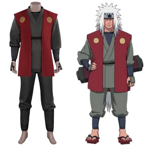Anime Naruto - Jiraiya Cosplay Costume Outfits Halloween Carnival Suit
