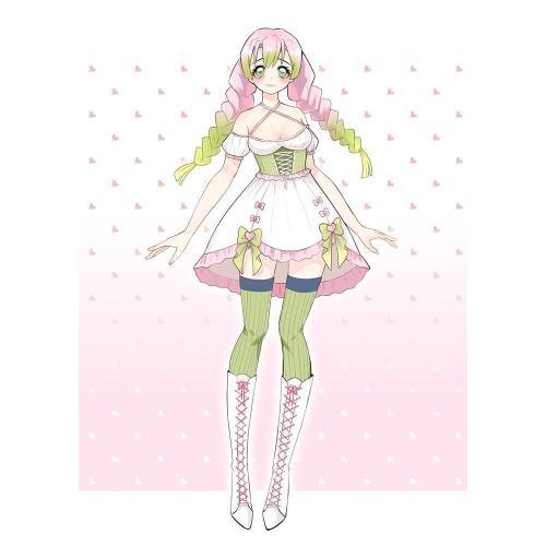 Pre-sale Mitsuri Kanroji Demon Slayer Lolita Dress Cosplay Costume