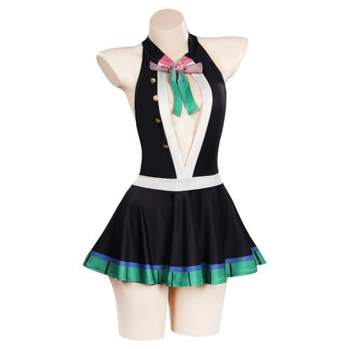 Anime Demon Slayer -Kanroji Mitsuri Cosplay Costume Swimwear Outfits Halloween Carnival Suit
