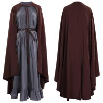 Gandalf Black Long Robe Cloak Cosplay Costume Outfits Halloween Carnival Suit