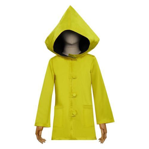 Little Nightmares II Six Cosplay Costume Yellow Coat Halloween Carnival Suit