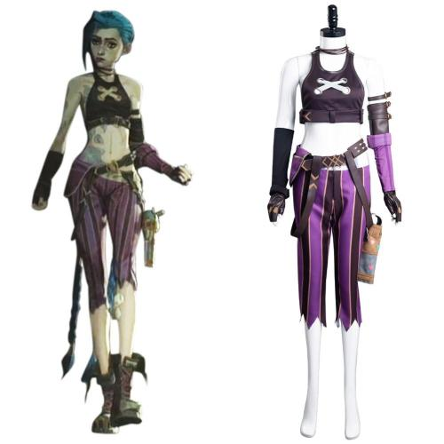 League of Legends-LoL Jinx Cosplay Costume Uniform Outfits Halloween Carnival Suit