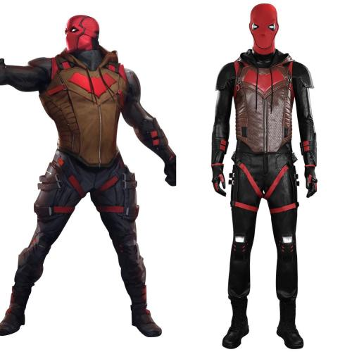 Gotham Knights Red Hood Jason Todd Cosplay Costume Outfits Halloween Carnival Suit