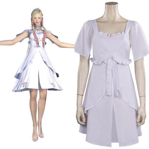 Final FantasyXIV FF14 Minfilia Cosplay Costume Dress Outfits Halloween Carnival Suit