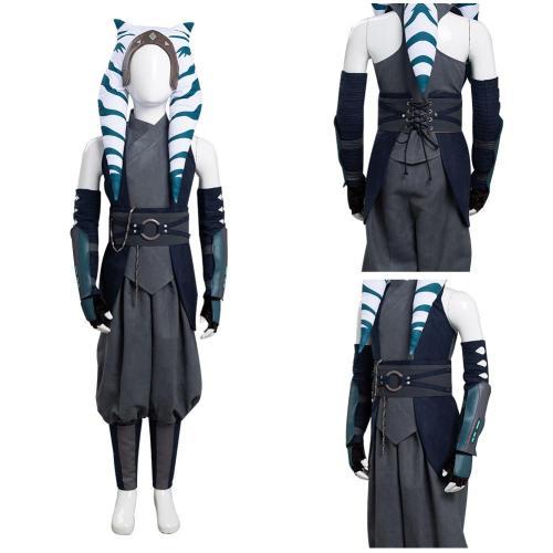 Star War Ahsoka Tano  Kid Cosplay Costume Outfits Halloween Carnival Suit
