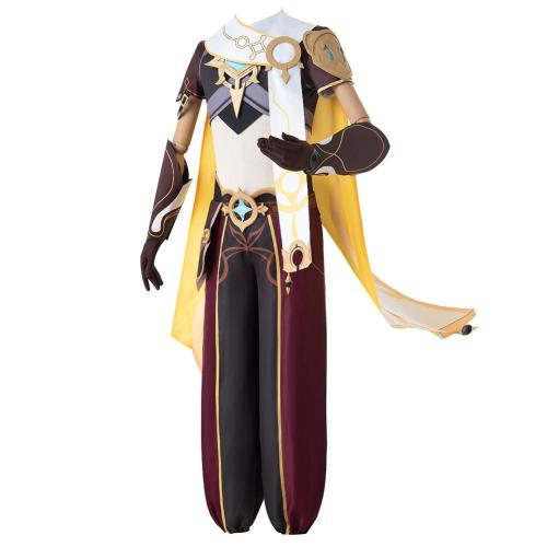 Genshin Impact Traveler Aether Cosplay Costume Outfits Halloween Carnival Suit