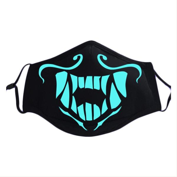 League of Legends Mask S8 The Rogue Assassin Akali K/DA Cosplay Luminous Mask